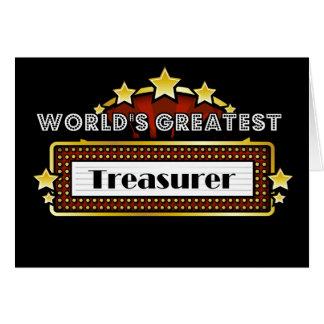 El tesorero más grande del mundo tarjeta de felicitación