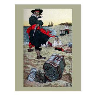 El tesoro del pirata postales