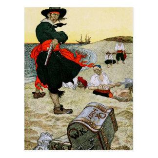 El tesoro enterrado del pirata postales