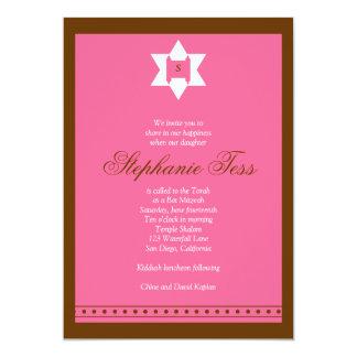 El Tess de Stephanie de la invitación de Mitzvah