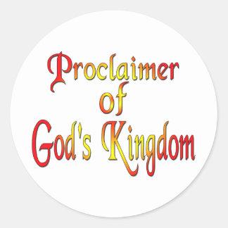 El testigo de Jehová Pegatina Redonda