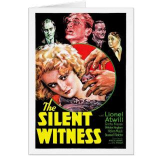 El testigo silencioso tarjeta de felicitación