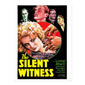 El testigo silencioso tarjetas postales