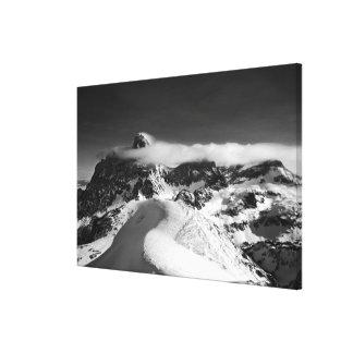El Teton magnífico y la catedral agrupan como Lienzo Envuelto Para Galerias