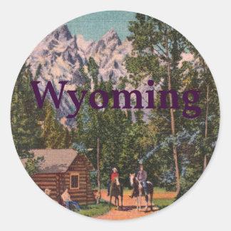 El Tetons - el Wyoming magníficos Pegatina Redonda