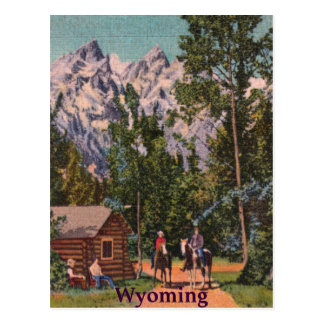 El Tetons - el Wyoming magníficos Tarjeta Postal