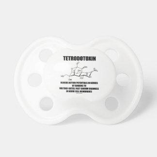 El tetrodotoxina bloquea potenciales de acción en chupetes para bebes
