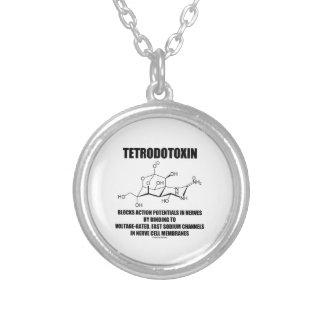 El tetrodotoxina bloquea potenciales de acción en pendientes