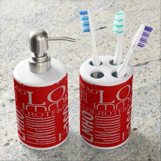 El texting de risa vasos para cepillos de dientes