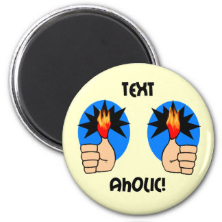 El texting divertido imán para frigorifico