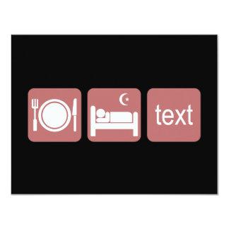 """El texting divertido invitación 4.25"""" x 5.5"""""""