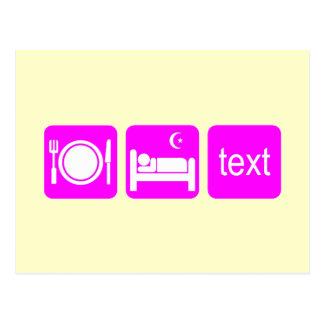 El texting divertido postal