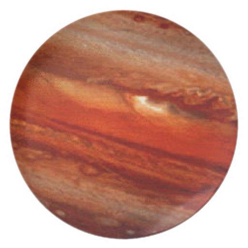 el texure de Saturno Platos Para Fiestas