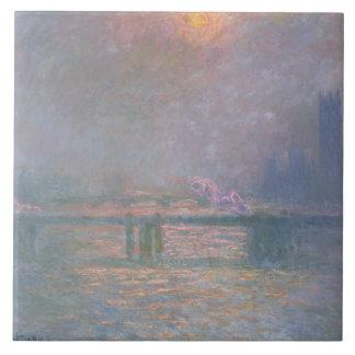El Thames con el puente cruzado de Charing, 1903 ( Azulejo Cuadrado Grande