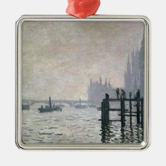 El Thames debajo de Westminster 1871 Ornamento Para Arbol De Navidad