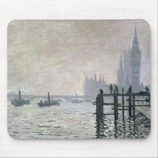 El Thames debajo de Westminster 1871 Alfombrillas De Ratones