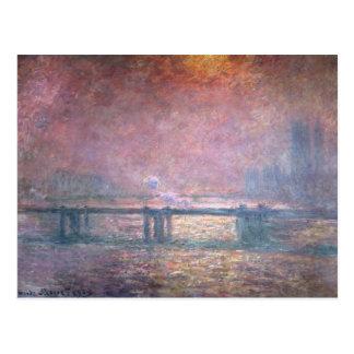 El Thames en Charing Cross, 1903 Tarjetas Postales