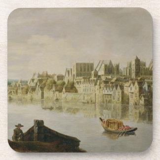 El Thames en las escaleras de Westminster, c.1630  Posavasos