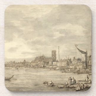 El Thames que mira hacia Westminster de Y cercana Posavasos