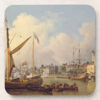 El Thames y la torre de Londres supuesto en t Posavaso