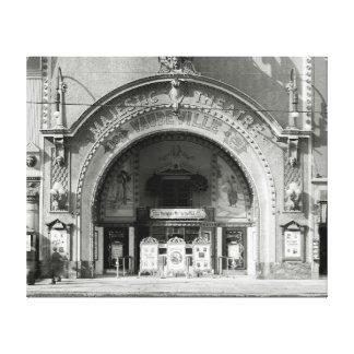 El Theatre majestuoso, 1910 Impresión En Lienzo Estirada