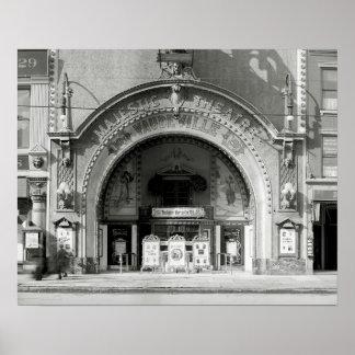 El Theatre majestuoso, 1910 Póster