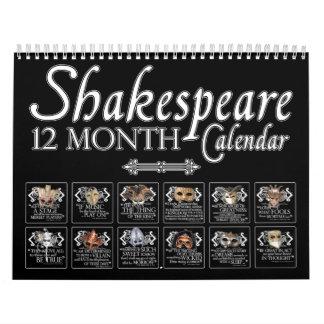 El Theatrical de Shakespeare enmascara el Calendario