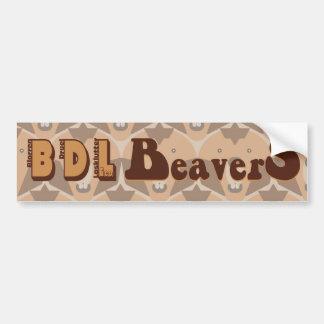 """el """"theCUBICLE"""" BDL Beavers a la pegatina para el  Pegatina Para Auto"""