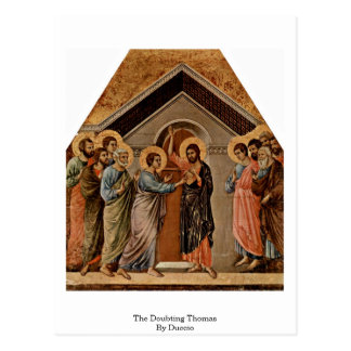 El Thomas que duda por Duccio Tarjeta Postal