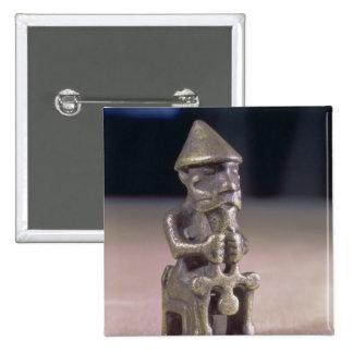 El Thor con un martillo, figurilla encontró en Isl Pin Cuadrado