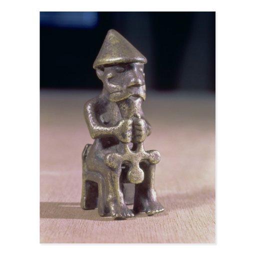 El Thor con un martillo, figurilla encontró en Isl Tarjetas Postales