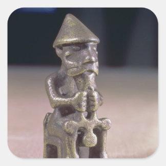 El Thor con un martillo, figurilla encontró en Pegatina Cuadrada