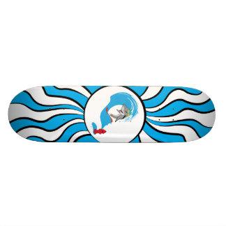 El tiburón atrae skateboards