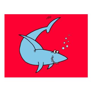 El tiburón de la cuchilla del arado tarjeta postal