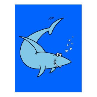 El tiburón de la cuchilla del arado postales