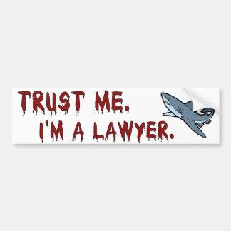 El tiburón del abogado me confía en pegatina para  pegatina para auto