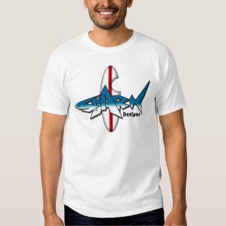El tiburón diseña la nueva mordedura del tablero playera
