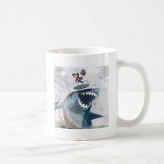 El tiburón en el parque (ilustraciones originales) taza clásica