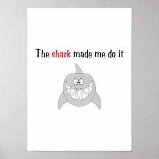 El tiburón hizo que lo hace poster