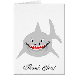 El tiburón le agradece cardar tarjeta pequeña