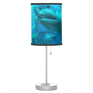 El tiburón más grande lámpara de mesilla de noche