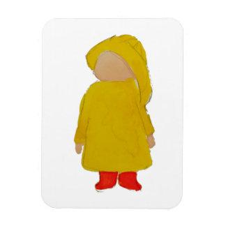 El tiempo abril de Toddie riega al niño del día Imán Flexible