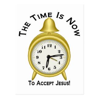 El tiempo ahora es aceptar el despertador de Jesús Tarjetas Postales