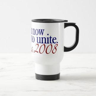 El tiempo ahora es unir (Obama 2008) Taza