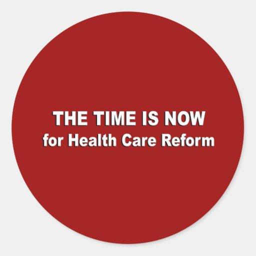 El tiempo ahora está para la reforma de la pegatina redonda