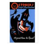 El tiempo azul brillante de octubre postales