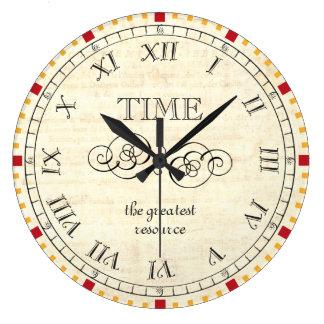 El tiempo de Carpe Diem es el steampunk más grande Reloj Redondo Grande