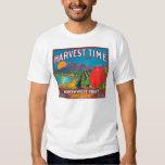 El tiempo de cosecha Apple etiqueta - Yakima, WA Camisas
