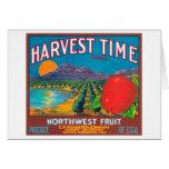 El tiempo de cosecha Apple etiqueta - Yakima, WA Tarjetas