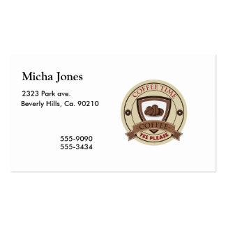 El tiempo del café satisface sí el logotipo tarjeta de negocio